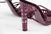 Miu Miu Crystal Look Detail Metallic Purple Vintage Leather Pumps Heels