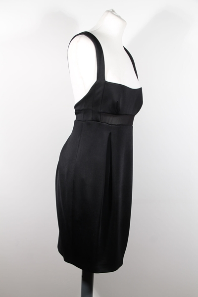 Versace Sleeveless Sheer Insert Little Black Vintage Dress