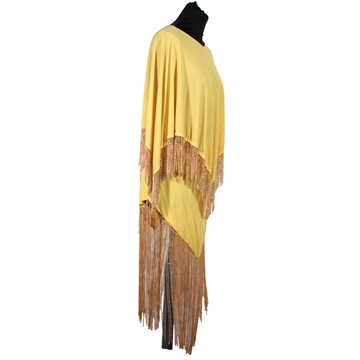 Loris Azzaro 1970s Rare Cape Top and Skirt Yellow Vintage Dress Set