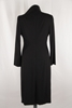 Dolce & Gabbana Slip and Wrap Dress and Overcoat Black Vintage 3 Piece Set