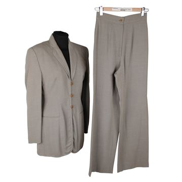 Giorgio Armani Black Label Wide Leg Grey Trouser Suit