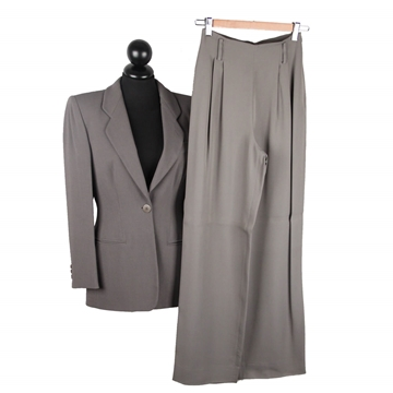 Giorgio Armani Black Label Grey Vintage Trouser Suit