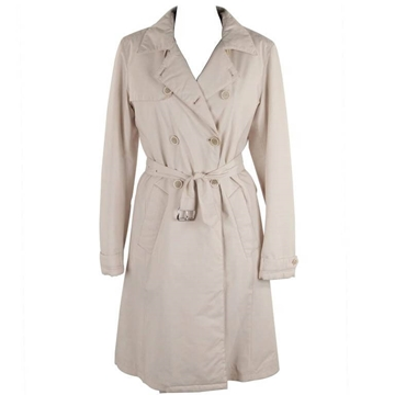 Prada Double Breasted Padded Ivory Vintage Trench Coat
