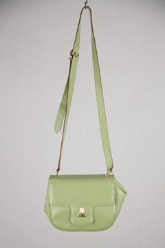 Salvatore Ferragamo Leather Lime Green Vintage Crossbody Bag