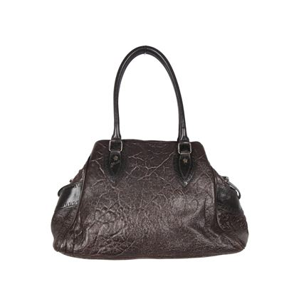 Fendi Brown Metallic Crisp Leather Bag De Jour top handle bag