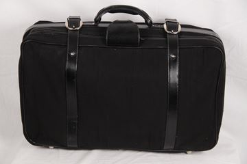 Gucci Black Canvas Soft vintage Suitcase