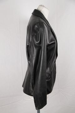 Azzedine Alaia Structured Black Leather Jacket