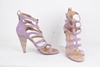 Giuseppe Zanotti Design Cage Strappy Lilac Purple Vintage Suede Pumps Heels