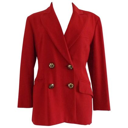 Moschino Cheap & Chic Red Vintage Wool Blazer Jacket