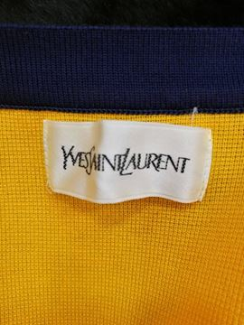 Yves Saint Laurent 1980s Neck Tie Yellow Vintage Cardigan