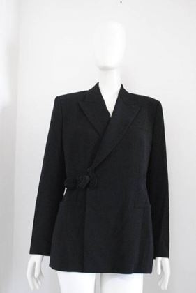 Jean Paul Gaultier 1990s Black Vintage Wool Blazer Jacket