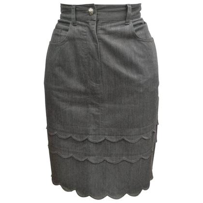 moschino-jeans-grey-cotton-skirt