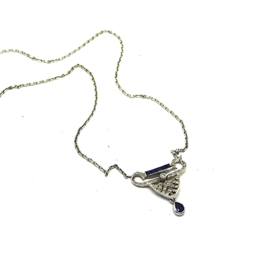 Art Deco sapphire diamond necklace