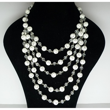 Picture of Mitchel Maer for Christian Dior Five Strand Gold White Filigree Necklace 1950s