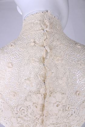 Antique pre 1920s lacework white vintage top Jacket