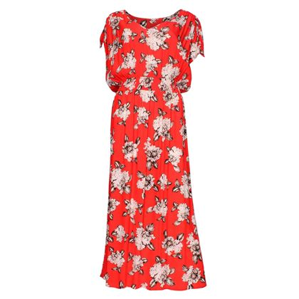 Vintage 1980s Hydranga Print red Dress