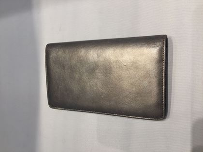 Chanel leather grey silver vintage ladies wallet