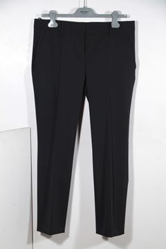Prada Poly Techno Fabric Black Vintage Tailored Trousers