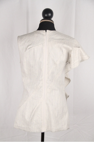 lanvin-stone-linen-amp-cotton-sleeveless-top-w-ruffle-trim-size-38