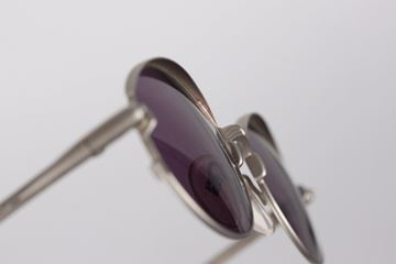 Jean Paul Gaultier 1990s Cadillac Silver Metal Vintage Sunglasses