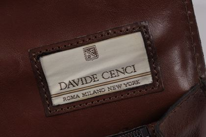 Davide Cenci Leather brown vintage Briefcase