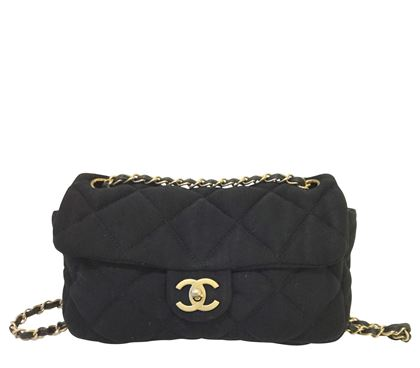 Picture of Chanel 2.55 Jersey Black Vintage Shoulder Bag