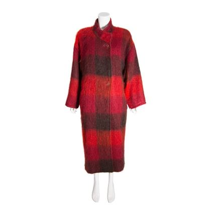 Jean Muir 1970s oversized wool red & black vintage coat