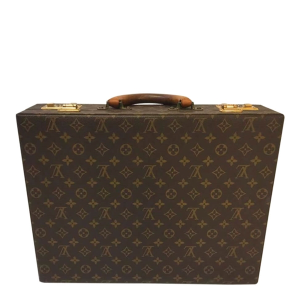 Louis Vuitton Attaché Is A Hard Small Suitcase With Inside Compartments And A Number Lock