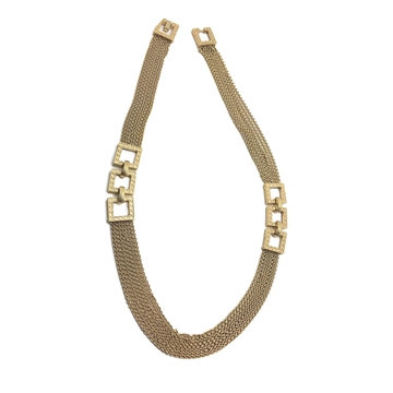 Christian Dior circa 1970s Modernist Gilt Chain Vintage Necklace