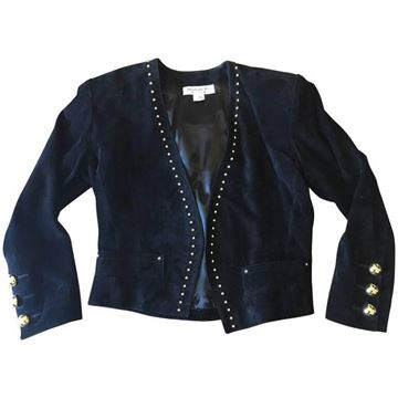 Yves Saint Laurent Stud Detail Black Vintage Leather Jacket