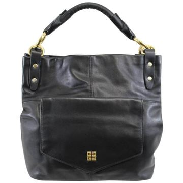 Givenchy Front Pocket Black Vintage Shoulder Bag