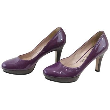 Salvatore Ferragamo Patent Leather Purple Vintage Heels