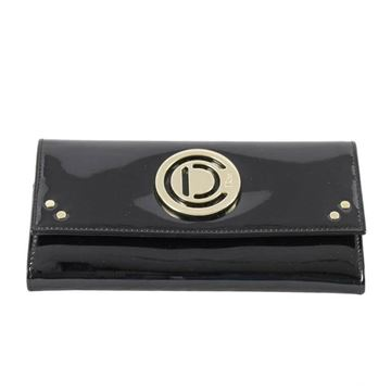 Christian Dior Patent Leather Black Vintage Wallet