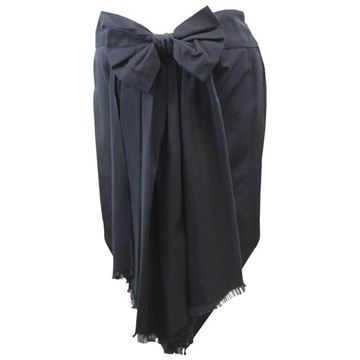 Jean Paul Gaultier Bow Detail Black Vintage Midi Skirt
