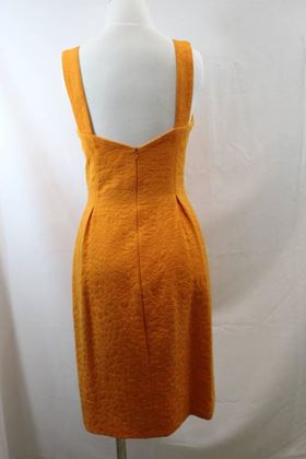 Balenciaga Dress, Jacket and Belt. Orange Croco Pattern. Size EU 40