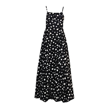Lanvin 1960s Silk chiffon sleeveles Polka Dot Monochrome Vintage Evening Dress