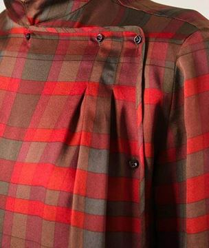 Christian Dior Silk checked red vintage Blouse
