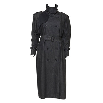 Yves Saint Laurent 1980s Denim black vintage Trench coat