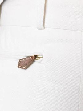 Hermes cotton Horse Riding style white vintage trousers