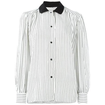 Yves Saint Laurent Silk Pussy Bow Black and White vintage Shirt