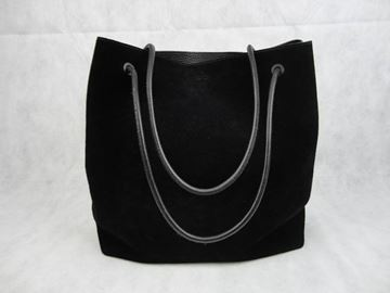 Gucci by Tom Ford Large Black Vintage Suede Tote