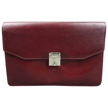 Celine Burgundy Red Vintage Leather Clutch