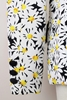 Moschino 1990s cotton daisy print black & white vintage blazer