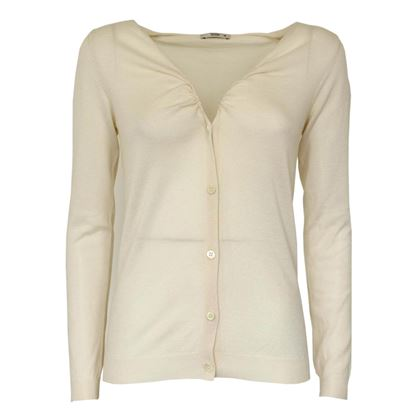 Prada Buttoned Ivory White Vintage Cardigan Top