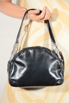 Roberta Di Camerino Leather Horse Head detail black vintage bag