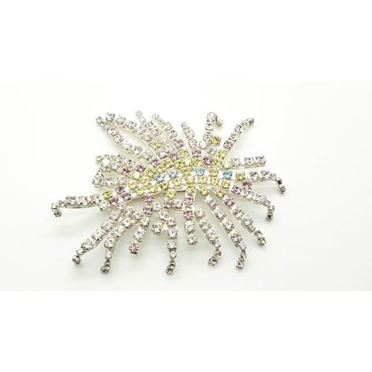 Christian Lacroix Centipede Crystal silver tone vintage Brooch