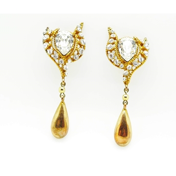 Christian Lacroix 1980s Crystal Drop vintage Dangle Earrings