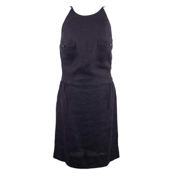Picture of Chanel Boutique Linen blue vintage Sleeveless Dress