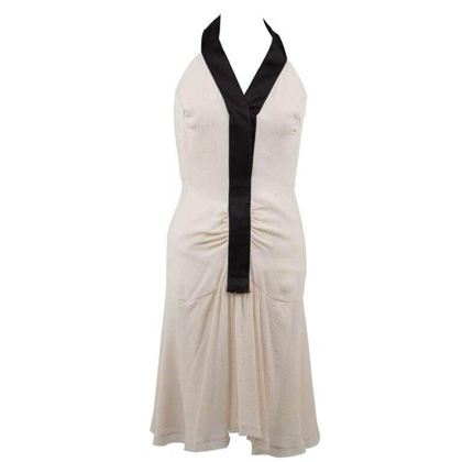 Picture of Chanel Silky Halterneck monochrome vintage Dress