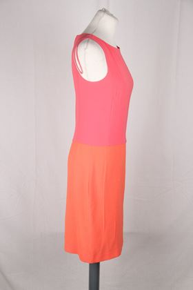 Prada Sleeveless Block Pink and Orange Vintage Dress